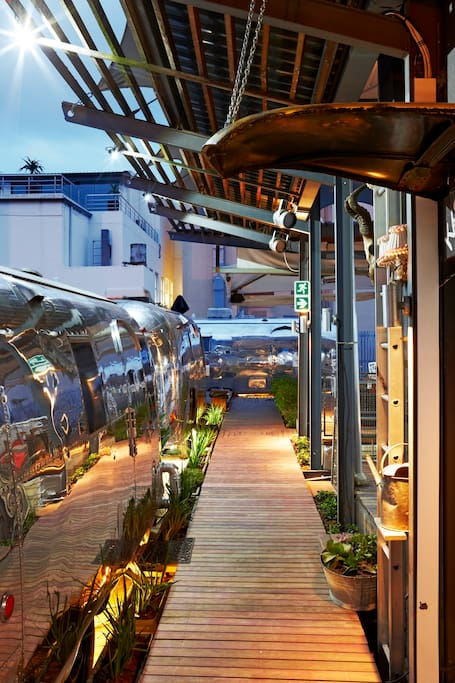 Rooftop Airstream Trailer Park
