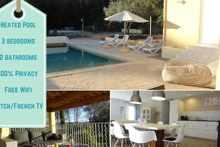VERY QUIET + SPACE + PRIVACY + HEATED POOL - Cotignac