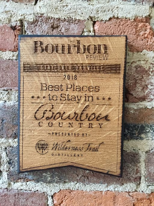 Voted Best Place to Stay in Bourbon Country