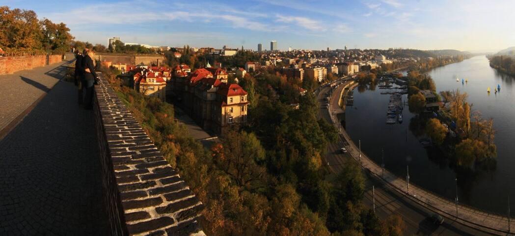 Spacious apartment right next to Vyšehrad castle
