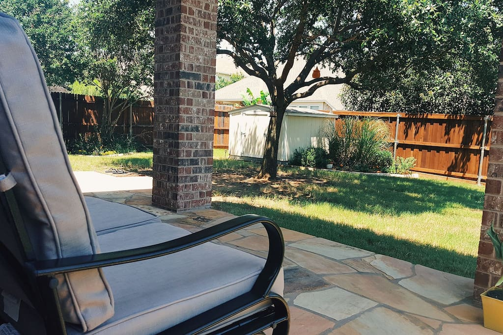 Relaxing backyard