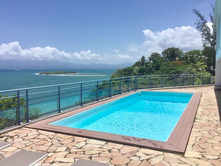Villa AZUR 2,  Magnifique vue sur mer, 3 chambres