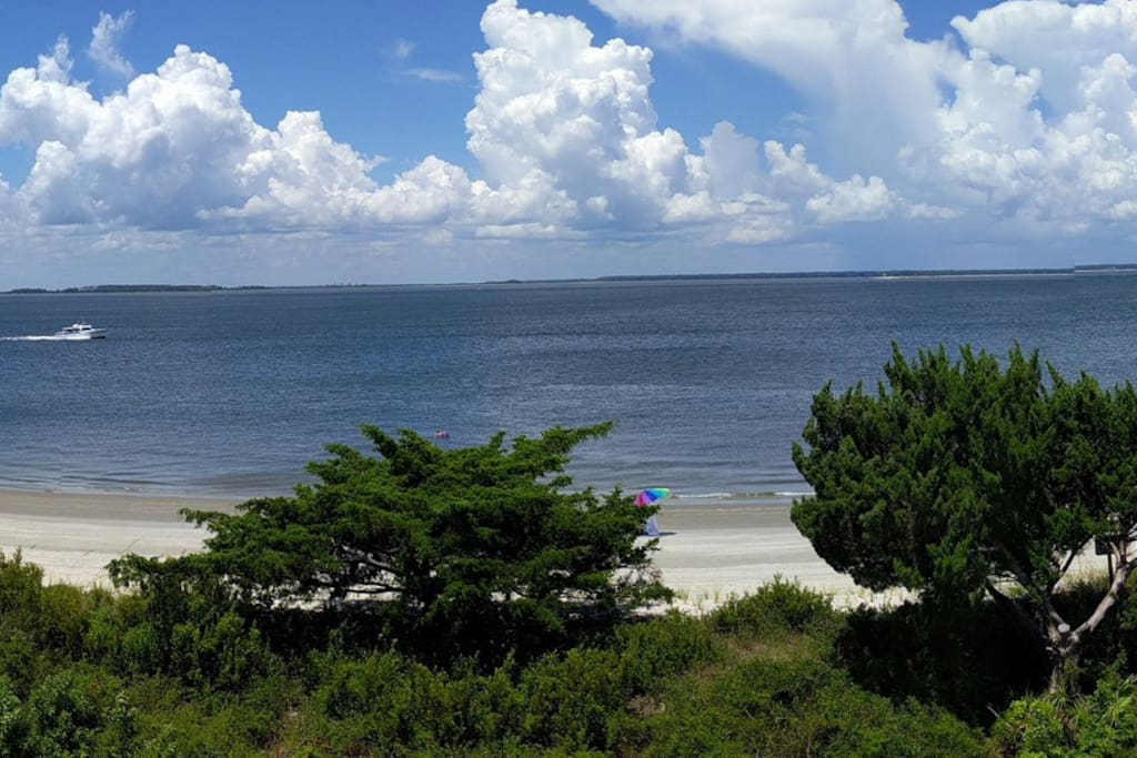 The relaxing sand of Tybee Island is only a few steps away.