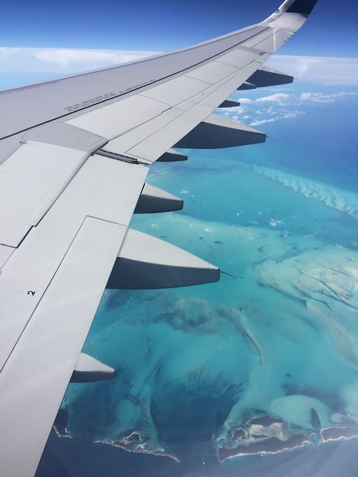 View From the plane just before you arrive.