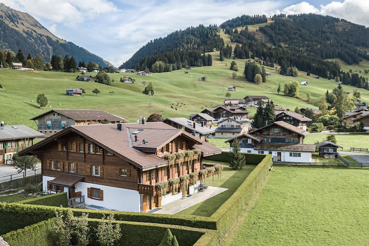 """Luxury 4BR family apartment """"Laublanc"""" in Gstaad"""