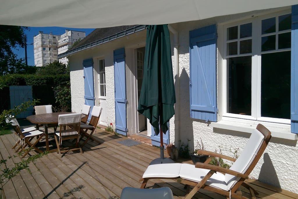 La terrasse de 45 m2