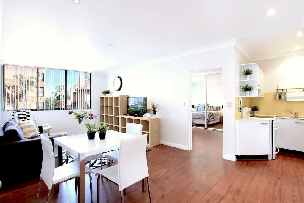 Bright airy and spacious living area.