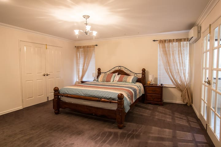 Main King bed with ensuite