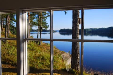 Sjöstuga i Lennartsfors - sagolik utsikt