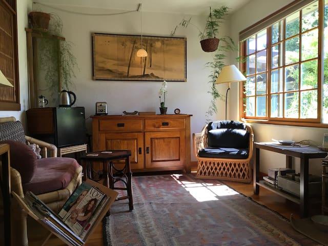 Adjacent living room for you.