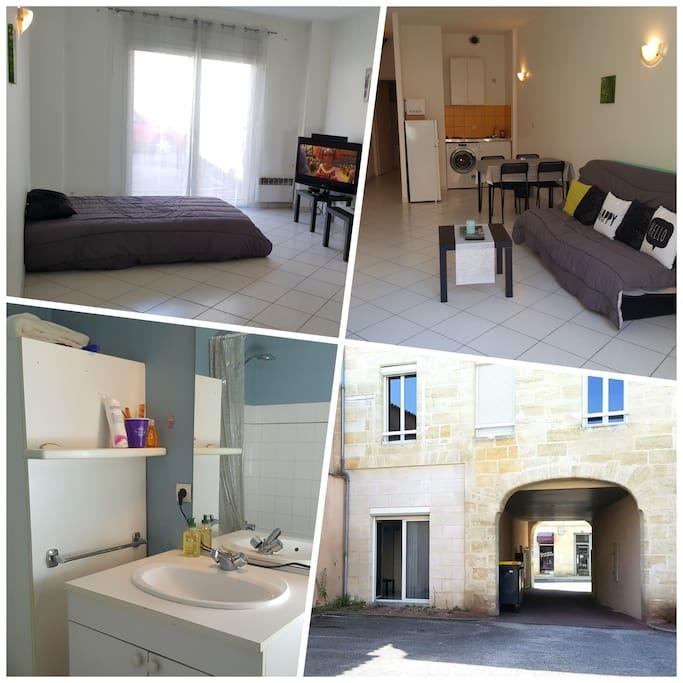 Studio 33m2 15mn de bordeaux appartements louer for Bordeaux studio a louer