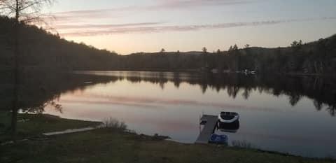 Adirondack Waterfront Lake house.