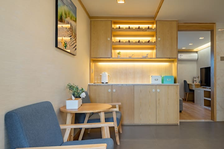 理享家洱海边~日式轻奢1居室套房带厨房,洗衣机,冰箱近大理站/机场大理港码头附近