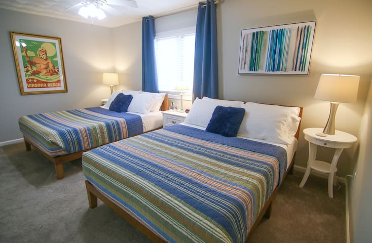 Your family will feel right at home with two comfortable queen beds in the spacious second floor suite.