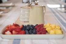 Fresh Fruit Platter as standard - when breakfast ordered as an extra