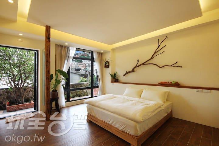 九份閒情民宿-浪漫二人房(可加一人)位於老街中段 - 瑞芳區 - Appartement