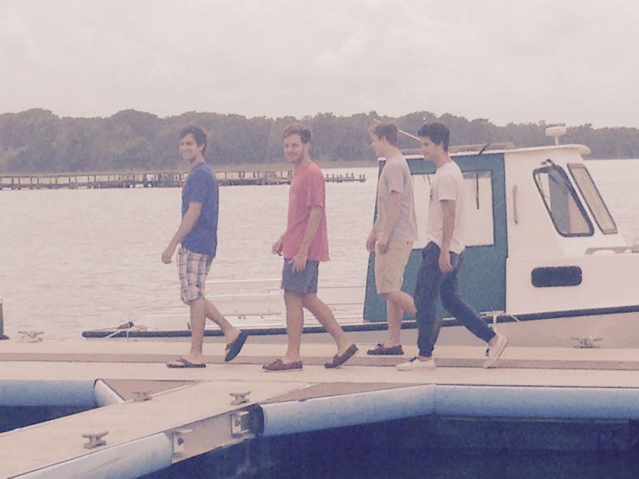 Take a walk on the pier.