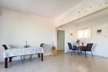 Dinning room and the living room