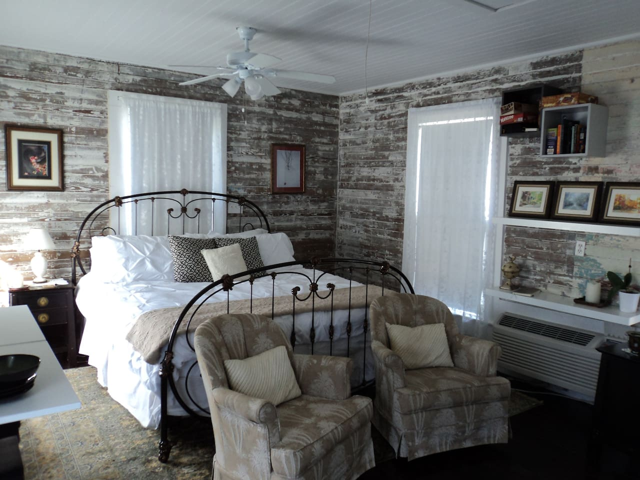 Your own private space with small kitchen and small bathroom!!  Must climb stairs to get to the carriage house.