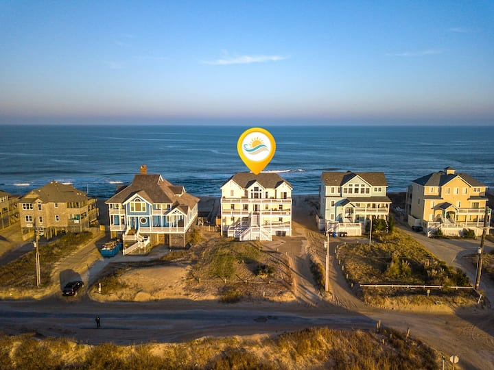 8045 Mirlo Hi * Oceanfront * Dog Friendly * Elevator * Rec Room w/ Pool Table & Foosball Table