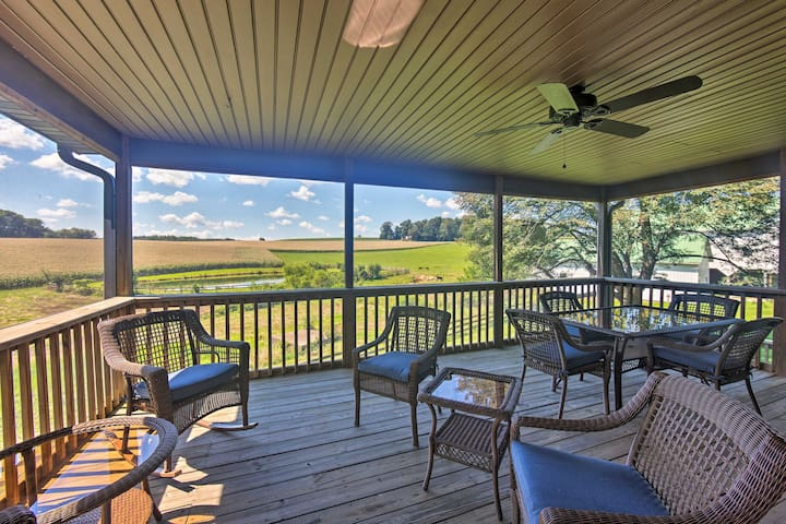 NEW! Stewartstown Cottage on 90 Acres w/Event Barn