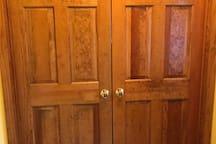 Front door of private room