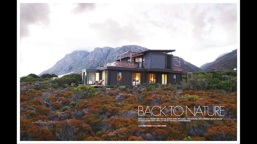 FYNBOS GLASSHOUSE unique modern peaceful coastal
