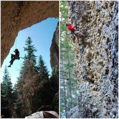 Maple Canyon, a favorite for rock climbing.