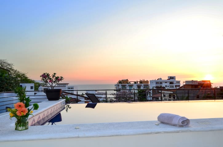 Casa de Paz- BL 304 - Roof Top Pool, Mins to Beach