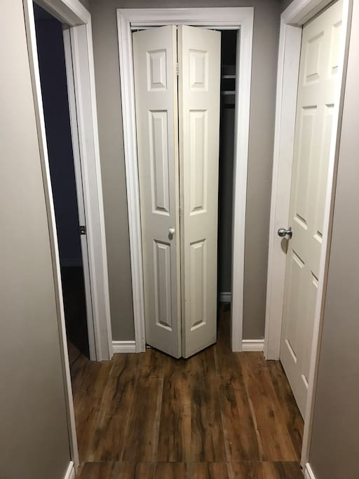 Walkway to your space, closet and laundry