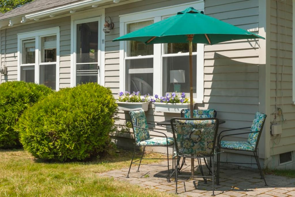Enjoy the peacefulness and ocean view from the patio set