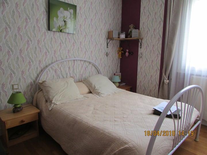 chambre dans agréable maison