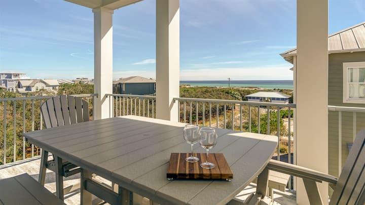 The Palmetto Blue 30A Inlet Beach +Gulf views +free bikes +beach set up