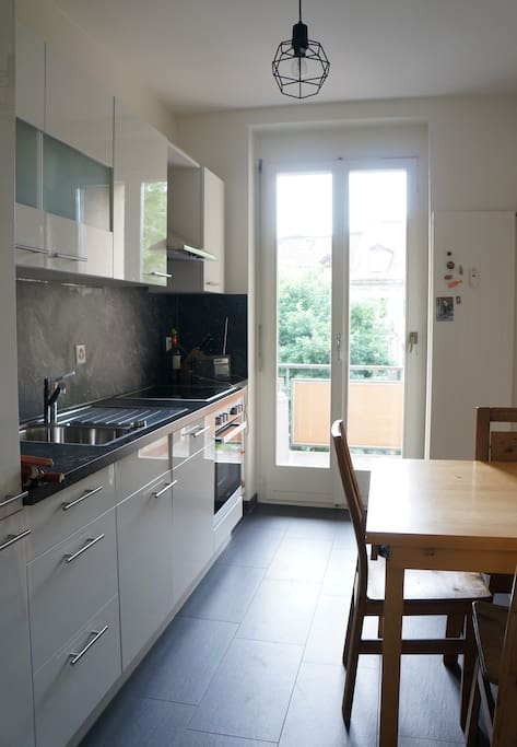 Kitchen with all amenities (Oven, Dish washer, Fridge, Freezer, Micro wave...)