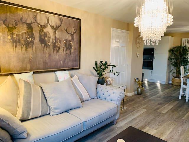 Luxury living room and bedroom