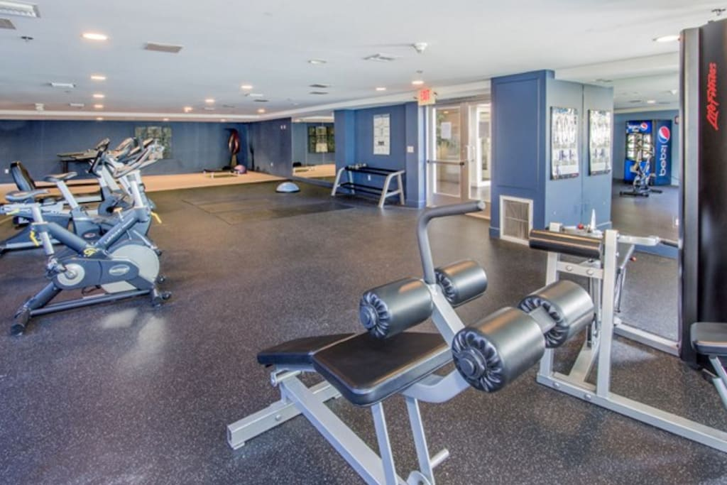 Gym which you'll have access to.