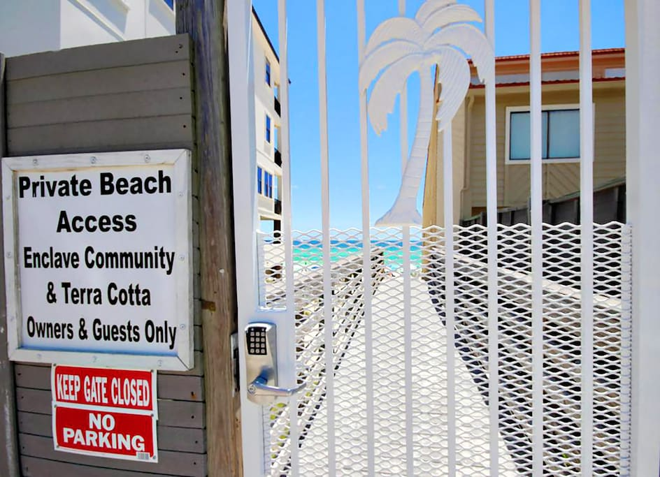 Beach Access for Terra Cotta guests