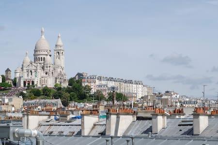 Cosy studio with view on the Sacré Coeur - Paris - Apartment