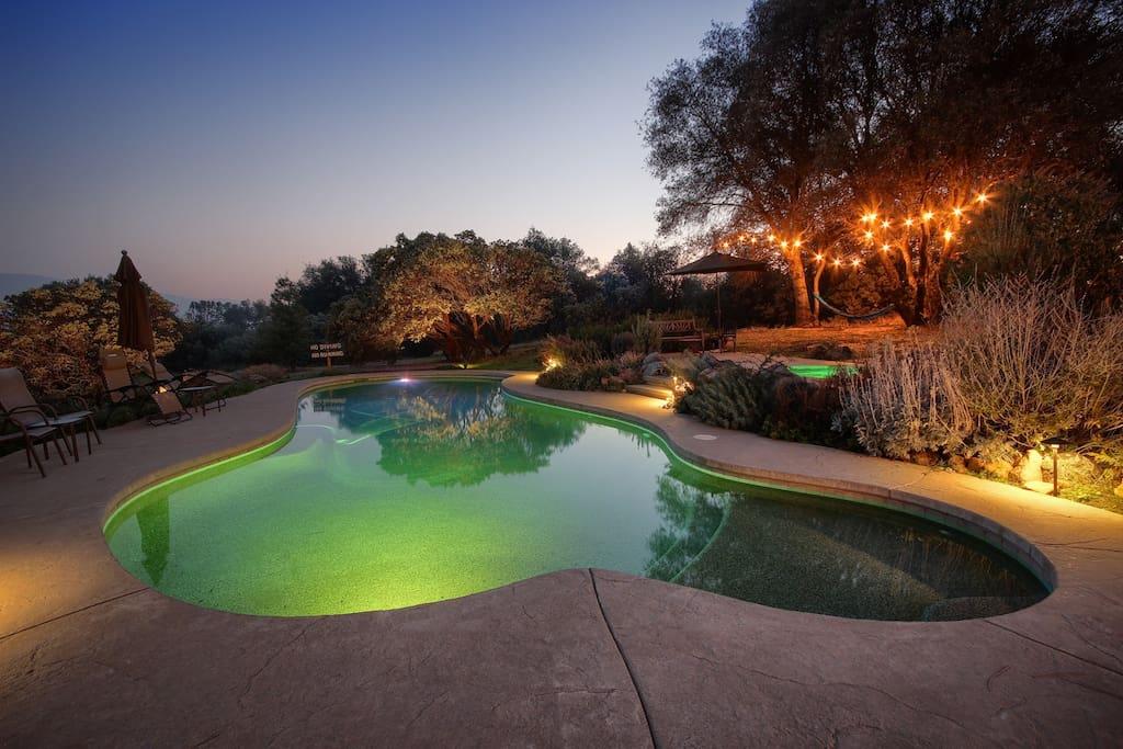 night time swim or hot tub :)