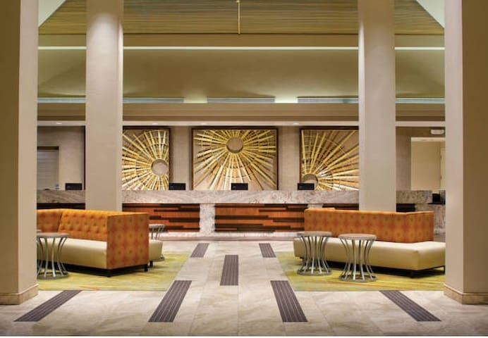 Chic Resort Lobby