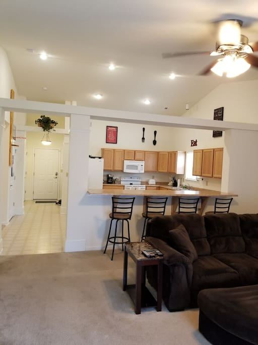 Kitchen off of Living Room