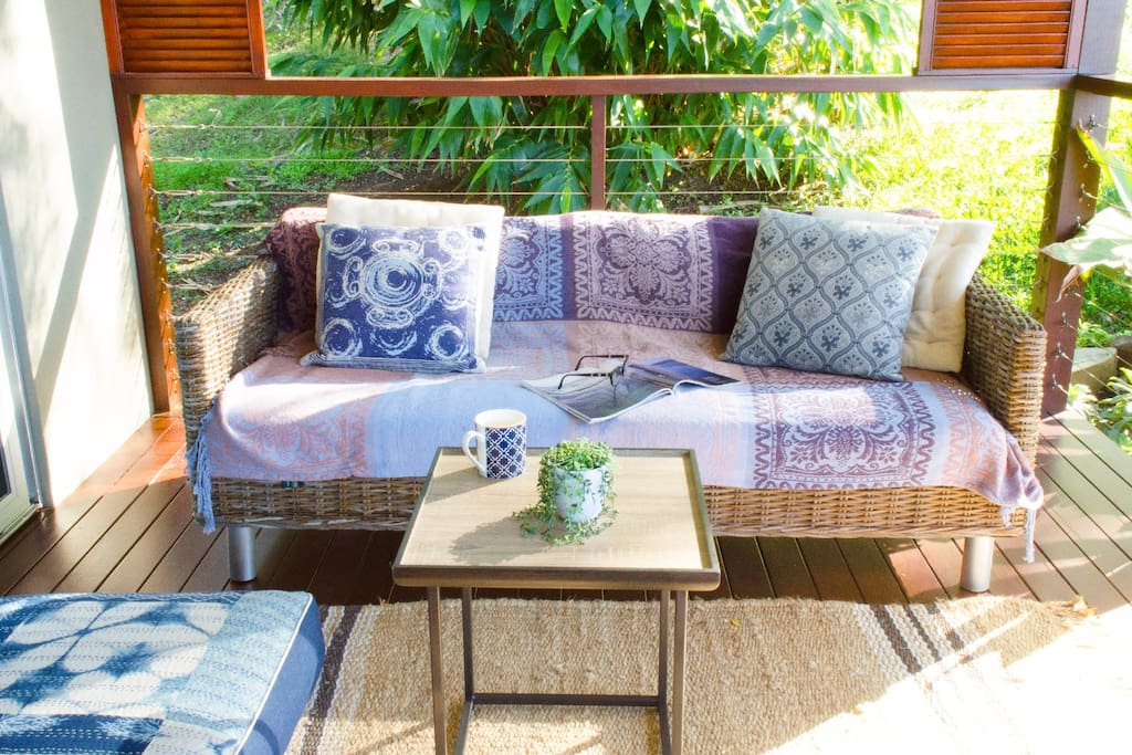 Lounging area on the veranda.