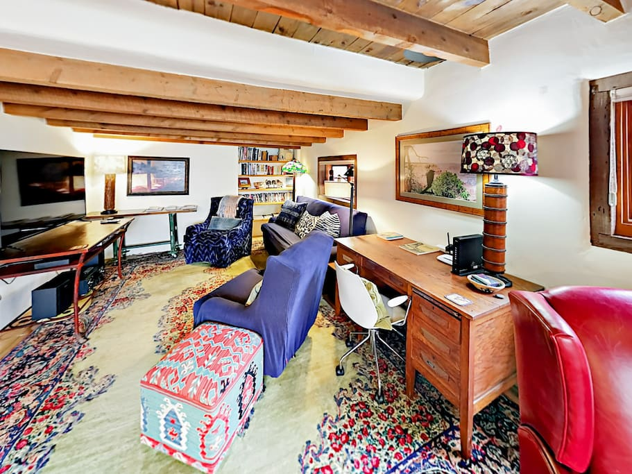 Your rental offers a wonderfully eclectic and whimsical collection of furnishings and artwork.