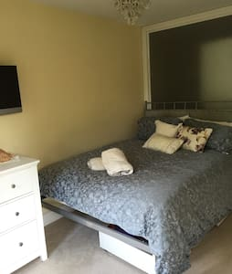 Lovely room and en suite in a family home - Finchampstead - 獨棟