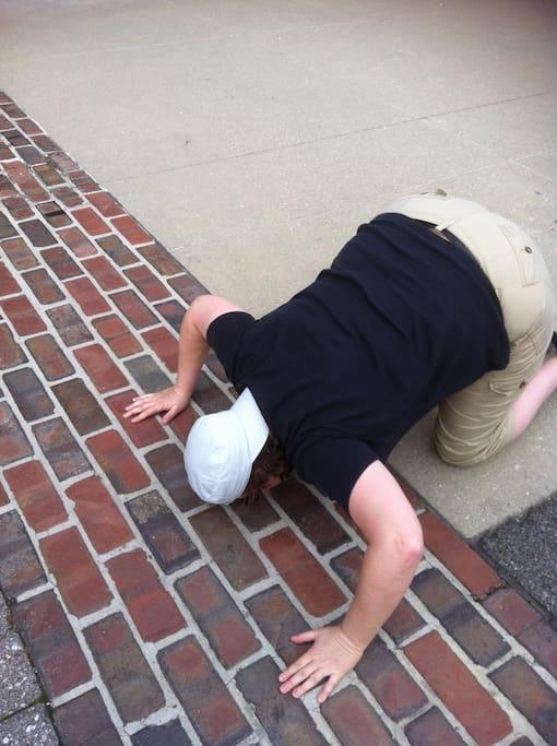 Kiss the bricks at Indianapolis Motor Speedway, the World Capital of Motor Racing!