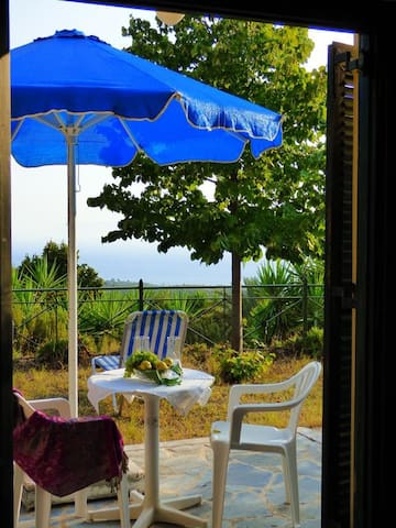 3 Studios Combo:Sea view,lovely garden,excursions - Mikri Mantineia - Huoneisto