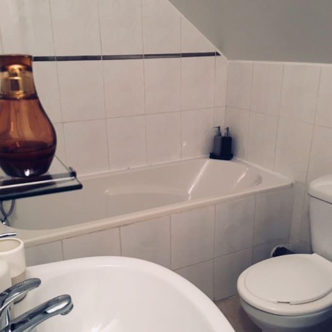 La salle de bain privative