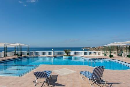 One bedroom poolside apt sea view - Kalathas
