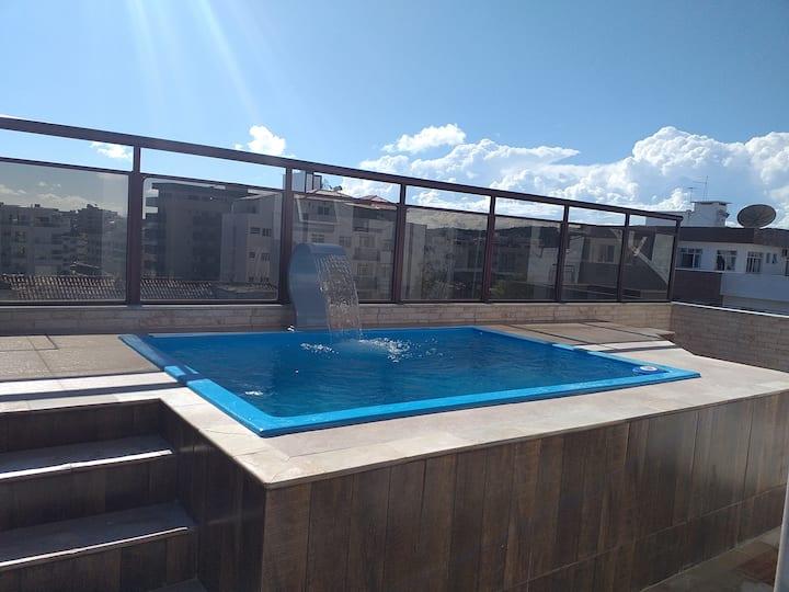 Praia do Forte, Cobertura duplex com piscina