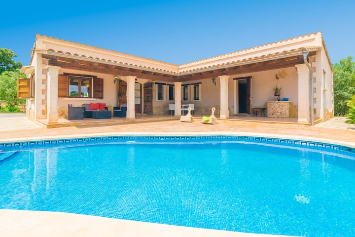 SON PERE GENET - Villa with private pool in Búger. Free WiFi